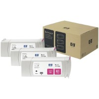 Hewlett Packard HP C5068A (HP 81) Magenta InkJet Cartridges (3/Pack)