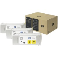 Hewlett Packard HP C5069A (HP 81) Yellow InkJet Cartridges (3/Pack)