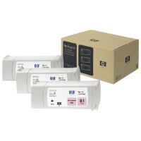 Hewlett Packard HP C5071A (HP 81) Dye Ink Light Magenta InkJet Cartridge Multi-Pack (3 Pack of C4935A)