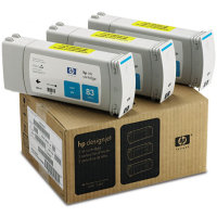 Hewlett Packard HP C5073A (HP 83) UV Ink Cyan InkJet Cartridge Multi-Pack (3 Pack of C4941A)