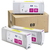 Hewlett Packard HP C5074A (HP 83) UV Ink Magenta InkJet Cartridge Multi-Pack (3 Pack of C4942A)