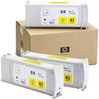 Hewlett Packard HP C5075A (HP 83) UV Ink Yellow InkJet Cartridge Multi-Pack (3 Pack of C4943A)
