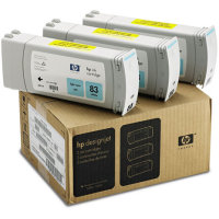 Hewlett Packard HP C5076A (HP 83) UV Ink Light Cyan InkJet Cartridge Multi-Pack (3 Pack of C4944A)