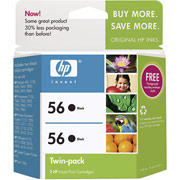 Hewlett Packard HP C9319FN (HP 56 Twinpack) InkJet Cartridge Twin Pack