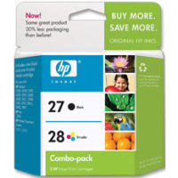 Hewlett Packard HP C9323FN (HP 27/28) InkJet Cartridge Combo Pack