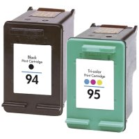 Hewlett Packard HP C9354FN (HP 94/95) Remanufactured InkJet Cartridge Combo Pack