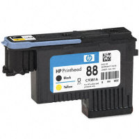 HP 88 Black/Yellow Printhead OEM originales Cartucho de tinta