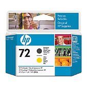Hewlett Packard HP C9384A (HP 72 Matte Black/Yellow Printhead) InkJet Cartridge Printhead