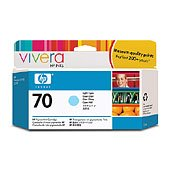 Hewlett Packard HP C9390A (HP 70 Light Cyan) InkJet Cartridge