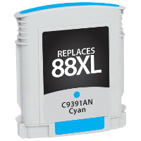 Hewlett Packard HP C9391AN / HP 88XL Cyan Replacement InkJet Cartridge