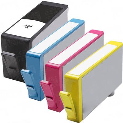 Remanufactured HP 564XL Black / 564XL Cyan / 564XL Magenta / 564XL Yellow Inkjet Cartridge MultiPack