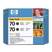 Hewlett Packard HP CB339A (HP 70) InkJet Cartridge Twin Pack