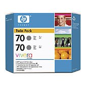 Hewlett Packard HP CB341A (HP 70) InkJet Cartridge Twin Pack