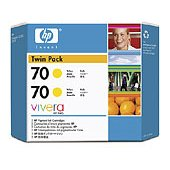 Hewlett Packard HP CB345A (HP 70) InkJet Cartridge Twin Pack