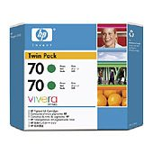 Hewlett Packard HP CB348A (HP 70) InkJet Cartridge Twin Pack