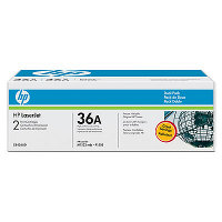 Hewlett Packard HP CB436AD (HP 36A) Laser Toner Cartridge Dual Pack