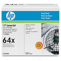 Hewlett Packard HP CC364XD (HP 64X) Laser Toner Cartridge Dual Pack