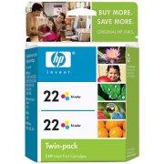 HP 22 Twinpack OEM originales Cartucho de tinta