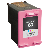 Hewlett Packard HP CC643WN / HP 60 Tri-color Replacement InkJet Cartridge