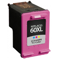 Hewlett Packard HP CC644WN / HP 60XL Tri-color Replacement InkJet Cartridge
