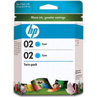 Hewlett Packard HP CD996FN (HP 02 cyan) InkJet Cartridge Twin Pack