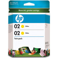 Hewlett Packard HP CD998FN (HP 02 yellow) InkJet Cartridge Twin Pack