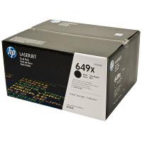 Hewlett Packard HP CE260XD (HP 649X black) Laser Toner Cartridge Dual Pack