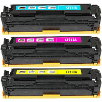 Hewlett Packard HP CF211A / CF212A / CF213A (HP 131A) Compatible Laser Toner Cartridge Set