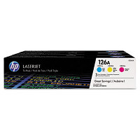 Hewlett Packard HP CF341A (HP 126A) Laser Toner Cartridge Tri-Pack