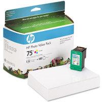 Hewlett Packard HP CG501AN (HP 75 Photo Value Pack) InkJet Cartridge Value Pack