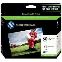 Hewlett Packard HP CG845AN ( HP 60 ) InkJet Cartridge / Paper Pack