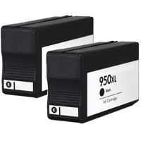 Hewlett Packard HP CN045AN (HP 950XL black) Remanufactured InkJet Cartridges (2/Pack)