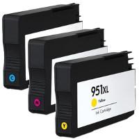 Hewlett Packard HP CN046AN / CN047AN / CN048AN (HP 951XL) Remanufactured InkJet Cartridge Set