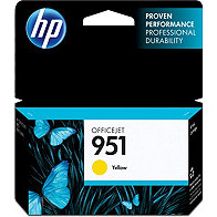 Hewlett Packard HP CN052AN (HP 951 Yellow) InkJet Cartridge