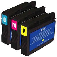 Hewlett Packard HP CN054AN / CN055AN / CN056AN (HP 933XL) Remanufactured InkJet Cartridge Set