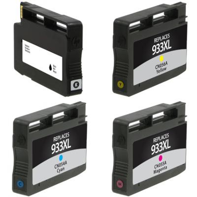 Remanufactured HP 933XL Cyan / 933XL Magenta / 933XL Yellow / 932 Black Inkjet Cartridge MultiPack