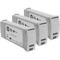 Hewlett Packard HP CR250A (HP 771 Matte Black) InkJet Cartridges (3/Pack)