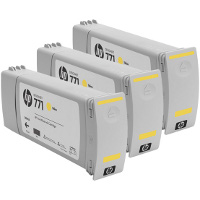 Hewlett Packard HP CR253A (HP 771 Yellow) InkJet Cartridges (3/Pack)