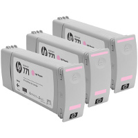 Hewlett Packard HP CR254A (HP 771 Light Magenta) InkJet Cartridges (3/Pack)