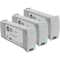 Hewlett Packard HP CR255A (HP 771 Light Cyan) InkJet Cartridges (3/Pack)