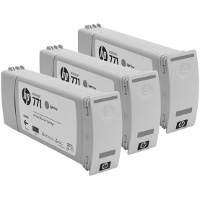 Hewlett Packard HP CR257A (HP 771 Light Gray) InkJet Cartridges (3/Pack)