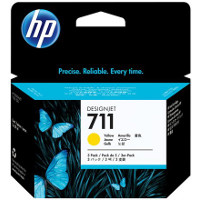 Hewlett Packard HP CZ136A (HP 711 yellow) InkJet Cartridges (3/Pack)