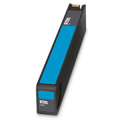 Remanufactured HP HP 972XLC (HP 972XL Cyan) Cyan Inkjet Cartridge