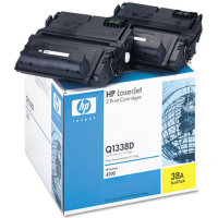 Hewlett Packard HP Q1338D (HP 38A) Dual Pack Laser Toner Cartridges