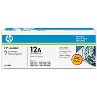 Hewlett Packard HP Q2612AD (HP 12A) Laser Toner Cartridge Dual Pack