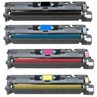 Hewlett Packard HP Q3960A / Q3961A / Q3962A / Q3963A Compatible Laser Toner Cartridge MultiPack