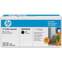 Hewlett Packard HP Q6000AD Laser Toner Cartridge Dual Pack