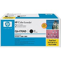 Hewlett Packard HP Q6470AD Laser Toner Cartridge Dual Pack
