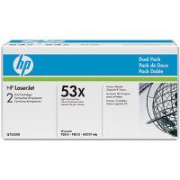 Hewlett Packard HP Q7553XD (HP 53X) Laser Toner Cartridge Dual Pack
