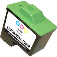Lexmark 10N0026 (Lexmark #26) Tri-Color Professionally Remanufactured Inkjet Cartridge